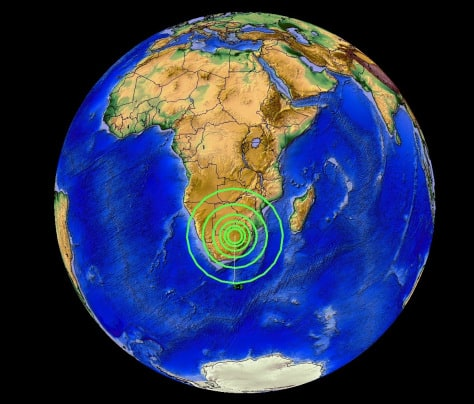 VERY RARE SOUTH AFRICA 5.3M EARTHQUAKE