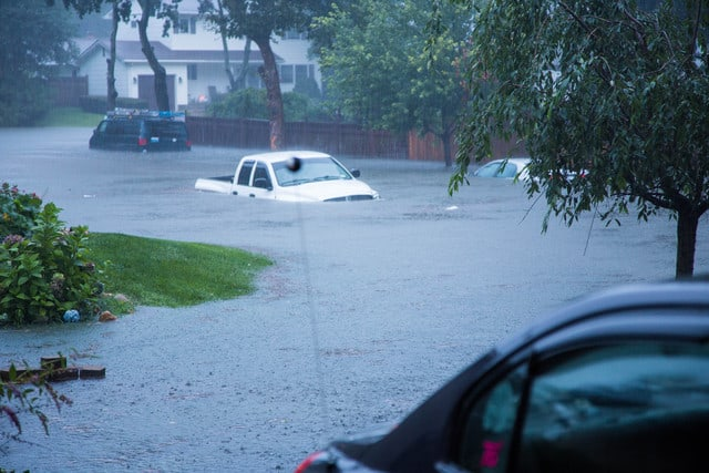 Devastating Record Rainfall Hits Long Island, Aug 13. 2014