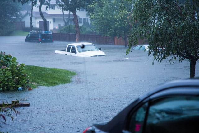 Devastating Record Rainfall Hits Long Island, Aug 13. 2014