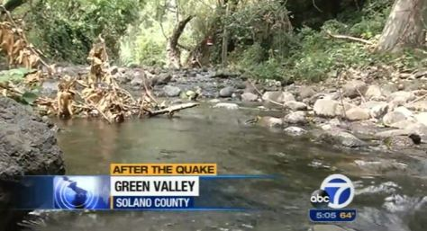 CALIFORNIA EARTHQUAKE CAUSES WATER TO WELL UP FROM UNDERGROUND – FILLS DRY CREEKS