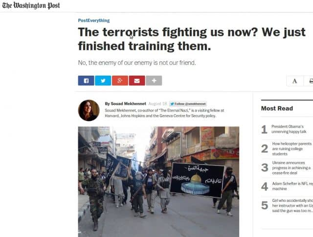 MSM: US Trained ISIS!