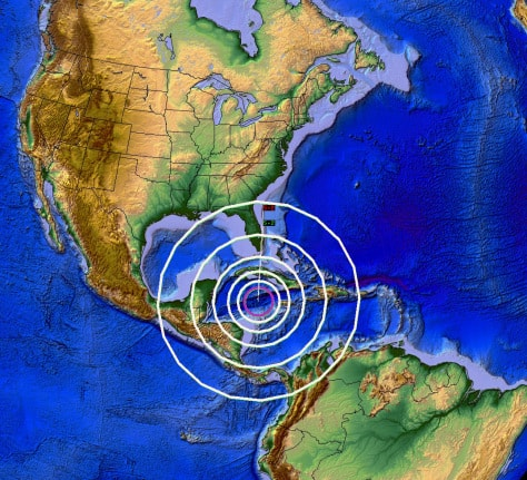TWO 5.2M EARTHQUAKES IN THE CARIBBEAN NEAR TSUNAMI DRILL LOCATION FROM 2013