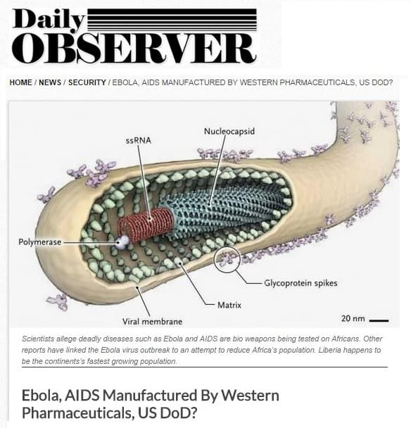 "Ebola Outrage: U.S. Department Of Defense ""Manufactured Ebola Virus"" Under Guise Of Vaccinations."