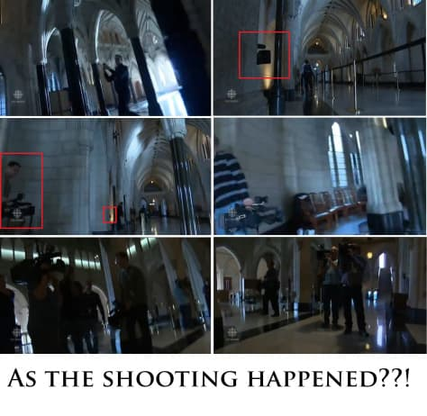 CANADA PARLIAMENT SHOOTING FALSE FLAG — CAMERAS PRE-STATIONED AT EVERY ANGLE