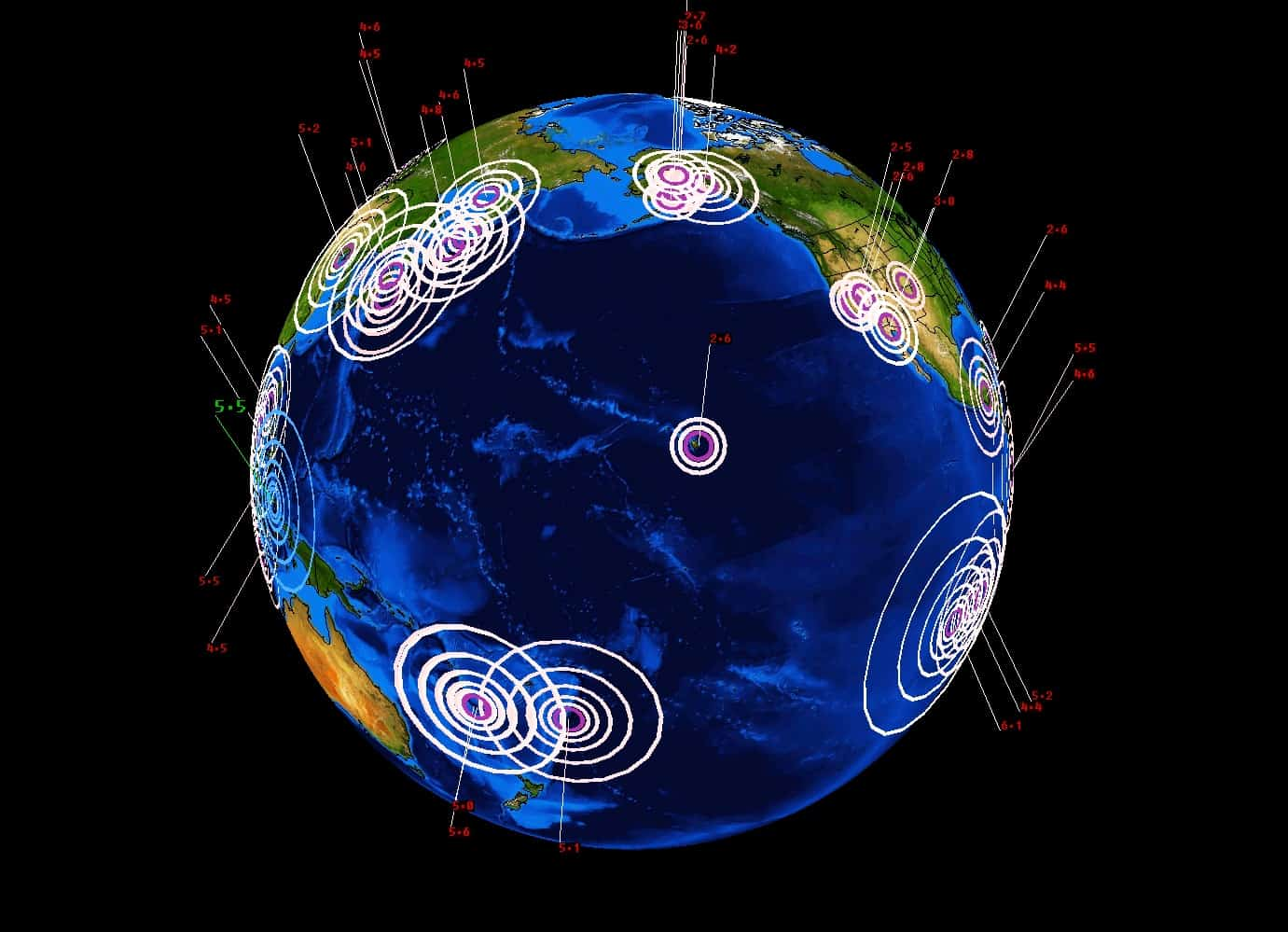 PAST 7 DAYS OF EARTHQUAKES SHOWS GLOBAL UNREST UNDERWAY