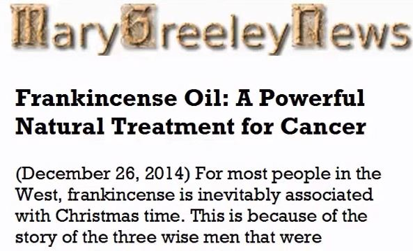 Frankincense Oil: A Powerful Natural Treatment for Cancer