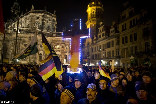 German Government, Leftists And ISIS Try To Destroy PEGIDA, Now Tens Of Thousands Of Germans Are Rallying In The Streets Carrying Crosses Even Israeli Flags And Ready To Fight Islam