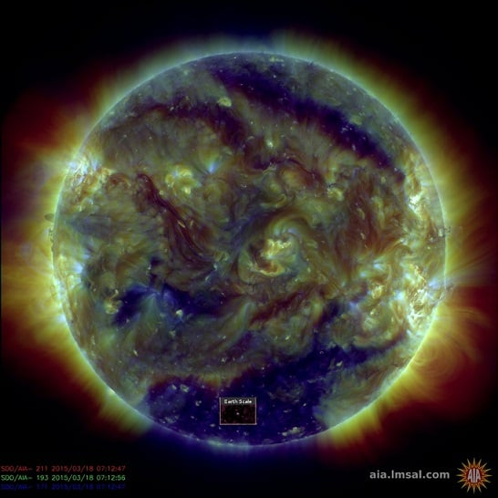 Is the Sun Going Dark? Latest Nasa images Reveal TWO Giant Holes – One Covering Almost 10% of the Solar Surface