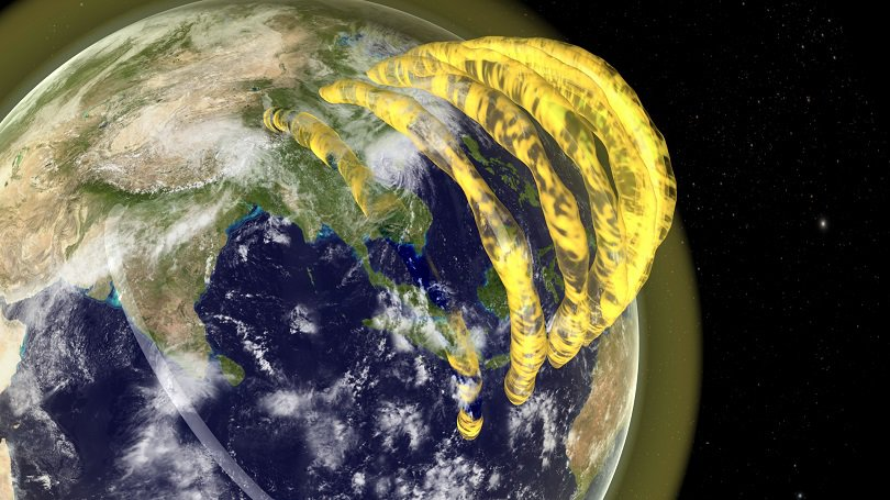 VIDEO: First images of plasma tubes drifting over Earth