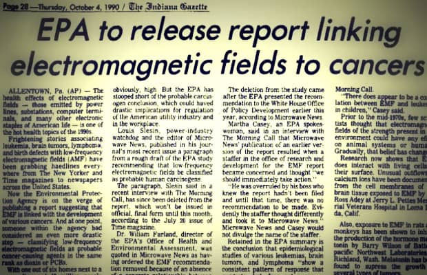"EPA Knew EMFs Were a ""Probable Human Carcinogen"" Decades Ago and Covered It Up"