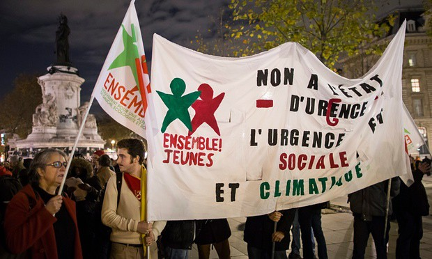 Paris climate activists put under house arrest using emergency laws