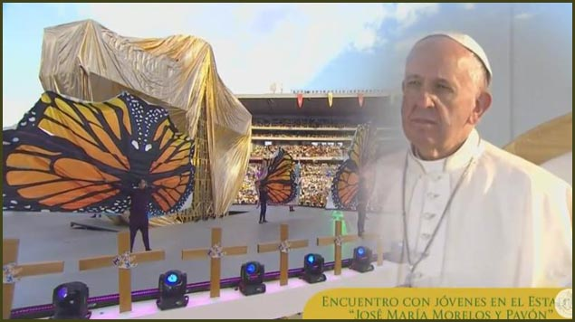 A Project Monarch Welcome to Mexico for the Pope?