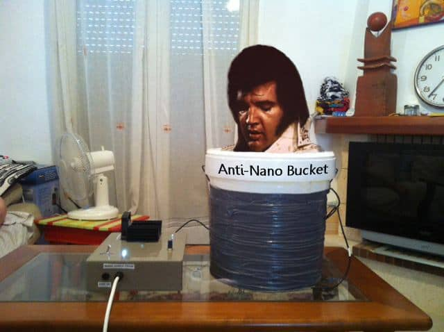 You'll See Elvis Coming Out! Anti Nano Bucket