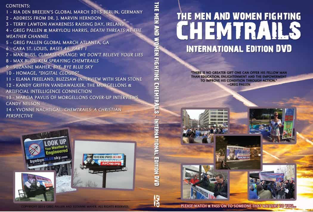 THE MEN AND WOMEN FIGHTING CHEMTRAILS INTERNATIONAL EDITION DVD!