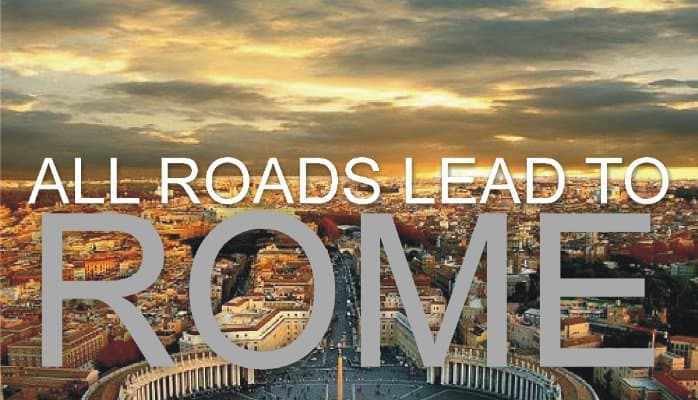 Image result for all roads lead to rome vatican meme