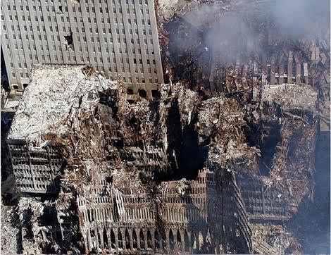 (Building 6 hollowed out to the lowest floor. ½ million sq. foot building hollowed out down to the basement  There were 7 buildings that 'went away' on 9/11.  Not 2-3 buildings as the gatekeepers told us.)