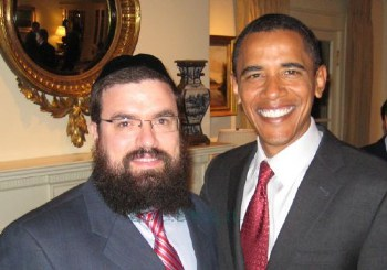 (Left, Barry Soetero with Chabad DC chieftain, Levi Shemtov)