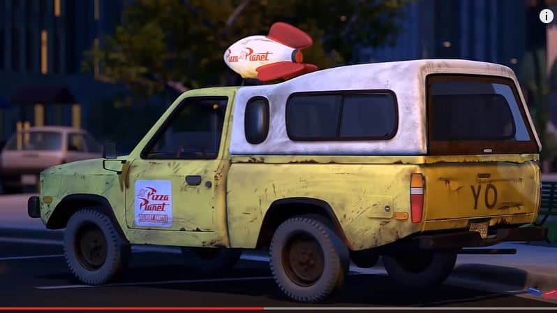 Pizza Planet Truck In Every Pixar Film