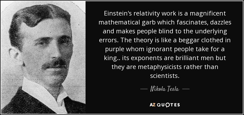 Image result for einstein tesla quote