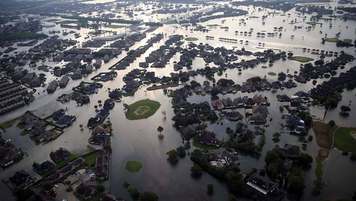 "Worldwide flooding / Hurricane Harvey ""Refueled"" Three Times"
