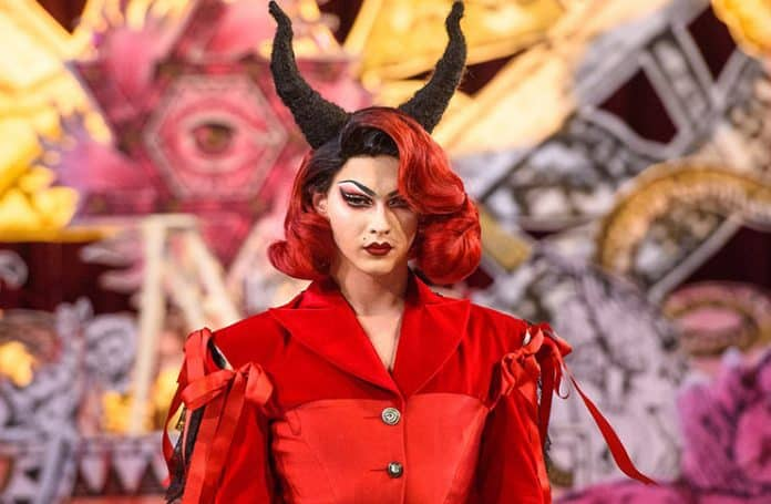 Satanic Fashion Show Inside a Church at London Fashion Week