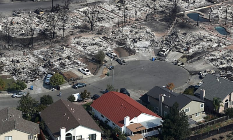 California Fires – Wind Speeds too low to blame PGE