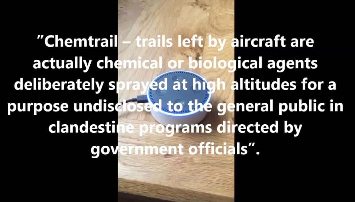 Alexa Discloses Chemtrails