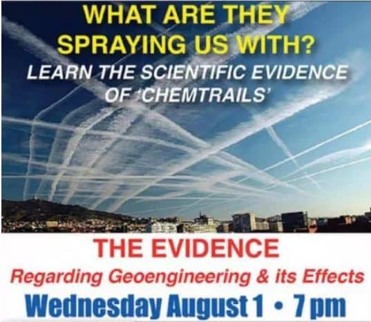 EVENT: What Are They Spraying Us With? Marshfield, WI AUG 1, 2018