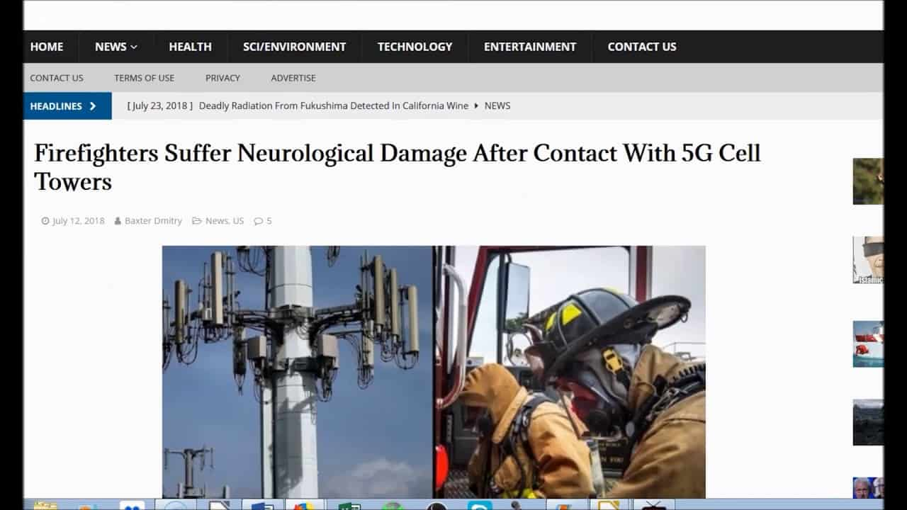 1st 5G Rollout in CA Causing Brain Damage to Firefighters