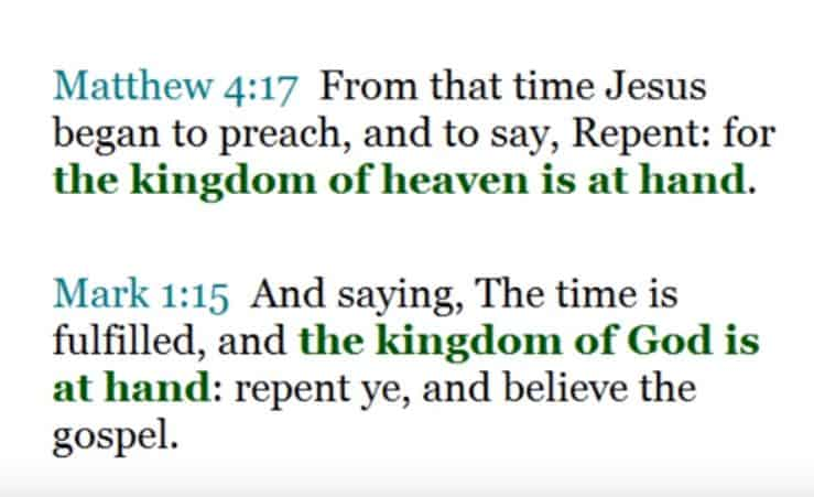 Amillennialism: The Kingdom of Heaven is at Hand!