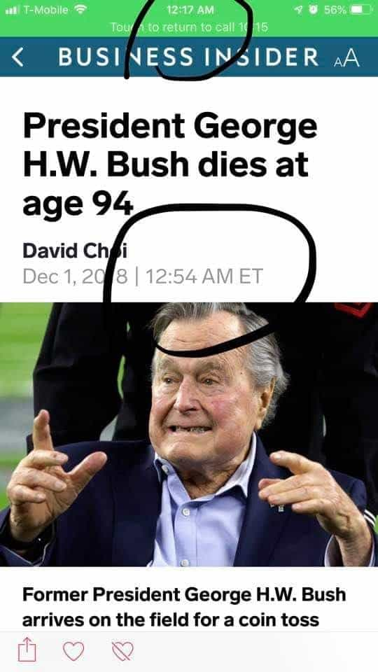 George W. Bush Dead at 94