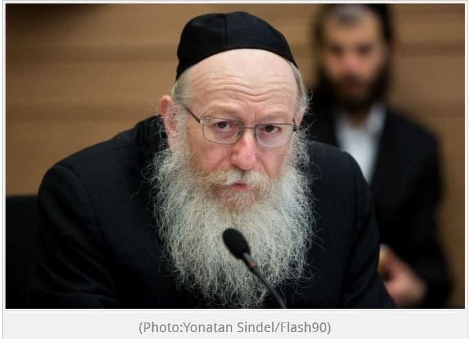 Israel's Health Minister Is Sure the Messiah will Arrive by Passover